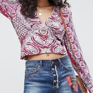 Free People Wild and Free Smocked Blouse